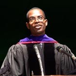 Accepting honorary doctrate at Swarthmore College