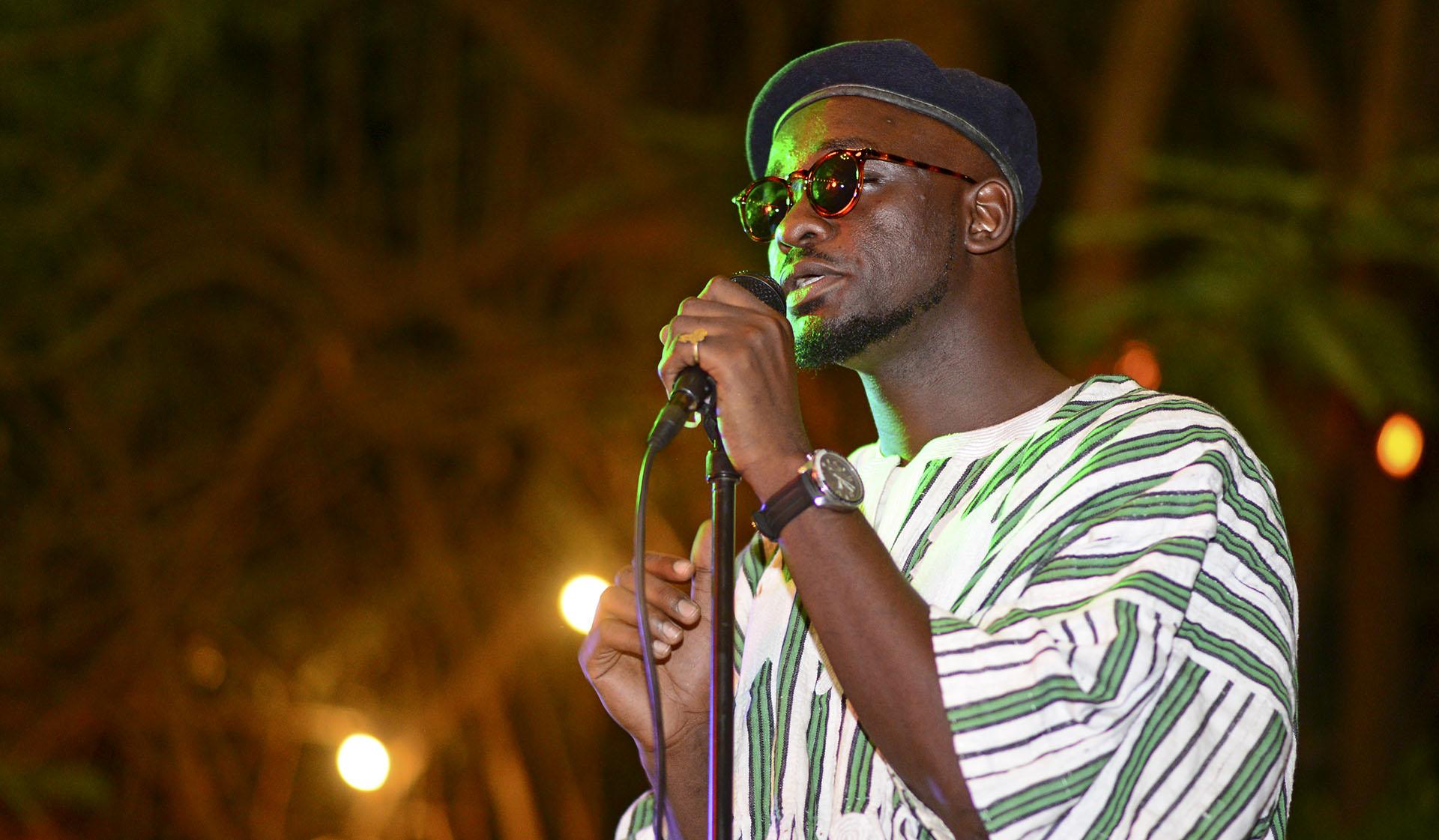 Avit, performing at his album launch